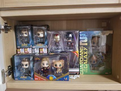 hottoys cosbaby groot thor catain marvel