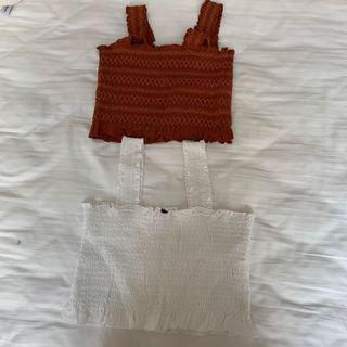 smocked thick strap tops