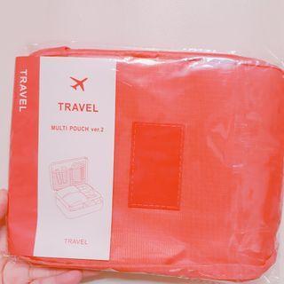 🚚 珊瑚紅防水化妝包
