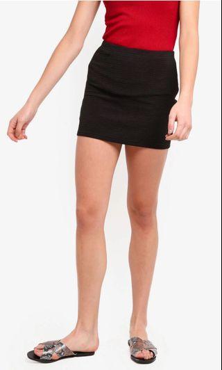 Zalora Black Bandaged Skirt