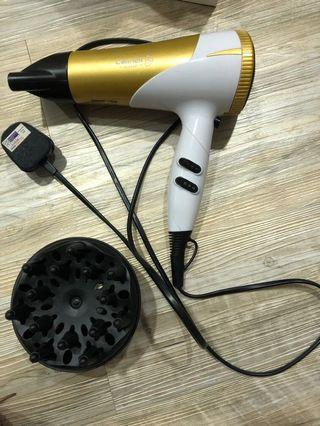 Cornell Ionic Hair Dryer with Curl Diffuser