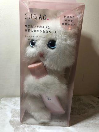 🚚 日本限定 SUGAO 雪白隔離妝前乳 CC霜 貓咪娃娃化妝包