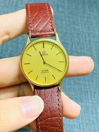 Omega De ville vintage Quartz watch ( Gold ) Original