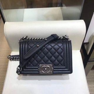 Chanel Boy Flap Small Black Caviar