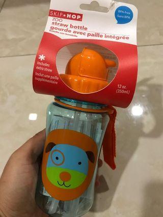 Skip Hop Zoo Straw Bottle - Darby Dog