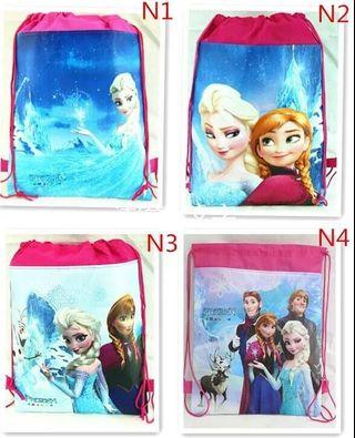 🚚 Good Quality Drawstring Bag/ Party Goodie Bag Frozen Princess Pony