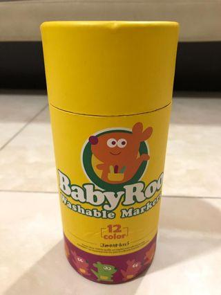 Joan Miro BabyRoo Washable Marker - 12 Colour