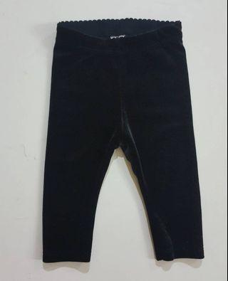 h&m velvet pants bottom legging