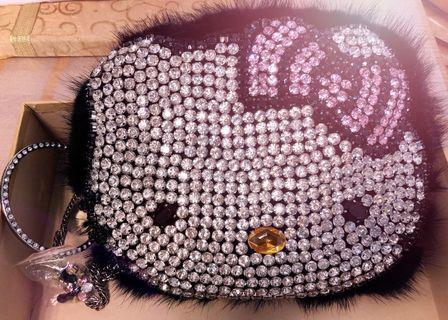 Kitty 鑽石手挽、側咩兩用袋 #newbieMay19