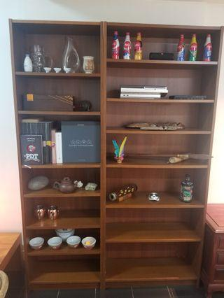 Wood Shelving Units (x2 split)