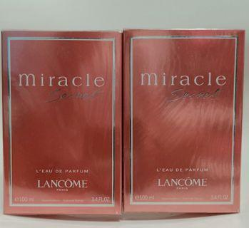 2 PCS@$145 Lancome Miracle 100ml