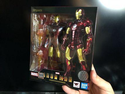 全新 再版 S.H.Figuarts SHF Ironman mark 3 mark III Marvel Avengers 鐵甲奇俠 Iron man