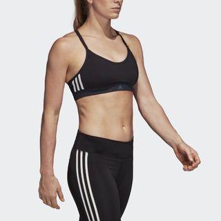 新款正貨 Adidas Strappy 3-Stripes Bra Women All Me 3-Stripes Sports Bras Sport Bra 阿迪達斯 女子運動內衣 胸圍 運動跑步瑜伽網球健身 高爾夫球 woman running tennis badminton Gym Yoga Golf Training 渣打香港馬拉松 渣打馬拉松 渣馬 Marathon