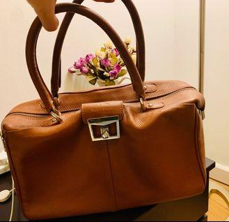 Natural full Leather hand bag