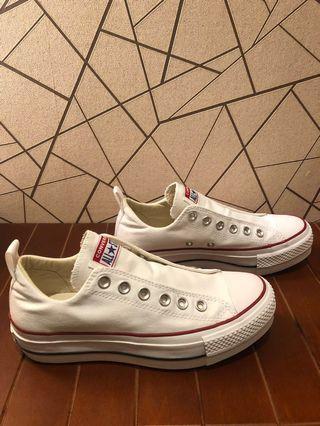 全新Converse Chuck Taylor All Star Lift sneakers 免鞋帶白帆布鞋