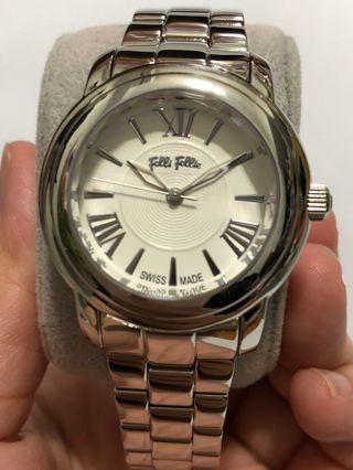🈹清貨 母親 🎁Folli Follie 瑞士製 銀殻時款手錶 屯門兆康 愉景新城759交收