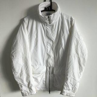 nike white puffy windbreaker jacket