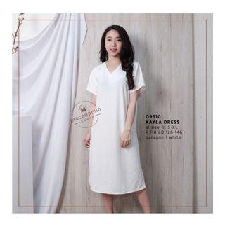 New White Simple Dress #BAPAU
