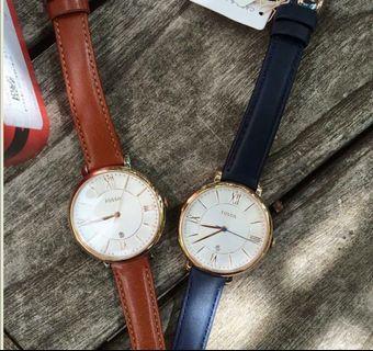 Fossil 羅馬手錶 咖啡色錶帶