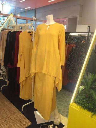 Baju raya Summershop yellow cotton kurung