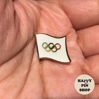 Olympic Flag collar pin, lapel pin, brooch badge