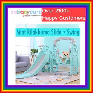 FREE DELIVERY Rilakkuma Slide + Swing + Basketball Set
