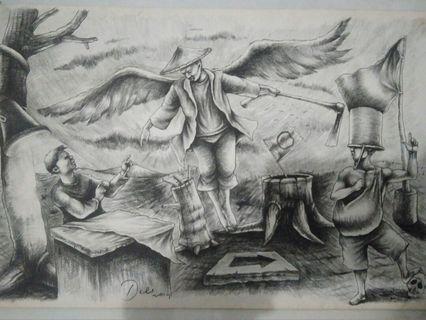 #mauvivo lukisan karya pelukis Dede Wahyudin 2014