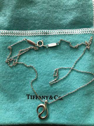 Tiffany Elsa Peretti Wave Necklace