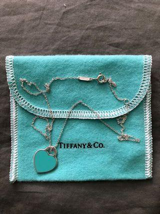 "Tiffany ""RTT Heart Charm tag necklace"