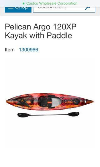 KAYAK PELICAN ORANGE pretty much BRAND NEW