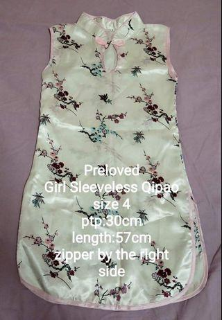 🚚 Pre loved sleeveless Qipao dress size 4