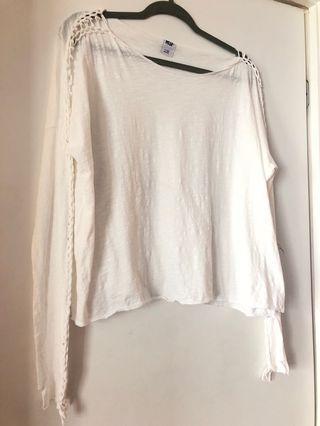 NSF White Cotton Long Sleeve Medium