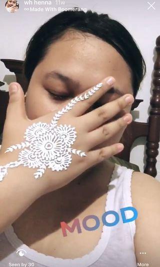 🚚 White Henna