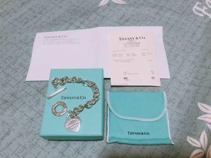 🚚 Tiffany & Co. 經典純銀T釦手鍊