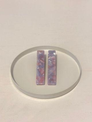 Pink/purple hair barrette