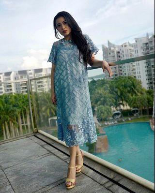 Cera Blue Dress cocok untuk Lebaran