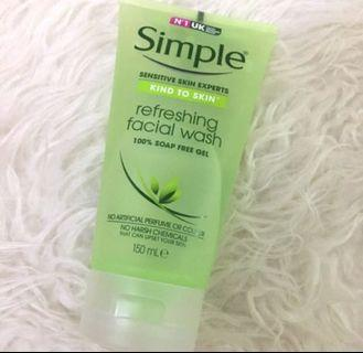 Simple refreshing facial Foam