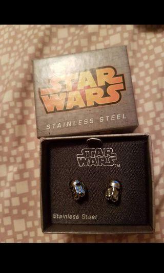 Star wars storm trooper earrings