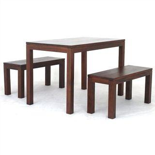 TeakCo.com Teak Dining Table n Bench 3 PC Set Package EXTRA%