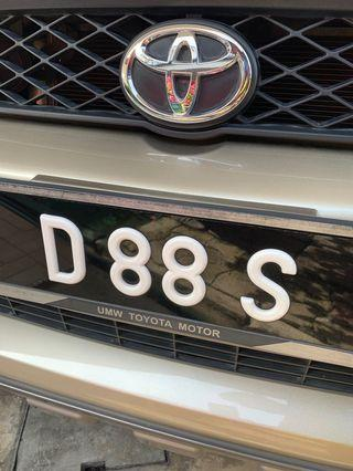 VVIP Number D88S for sell