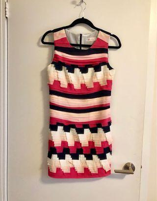 Pleated multi layer dress