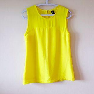 GG5 Shell Top, UK6, Sunshine Yellow, Lined, Lightly Used, No Flaws
