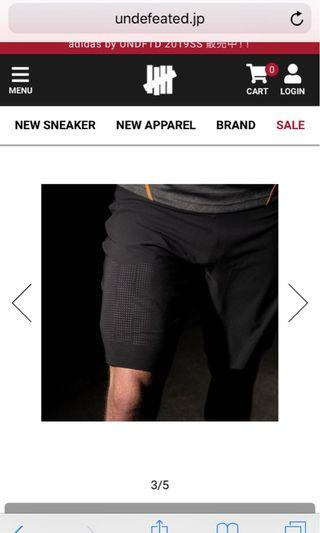 adidas by undefeated gym shorts