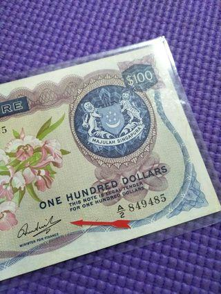HSS without  red seal old $100 orchid notes