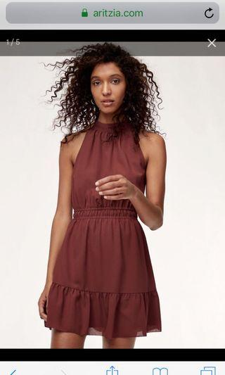 Aritzia Effet Mini Dress in Apple Butter Size XS