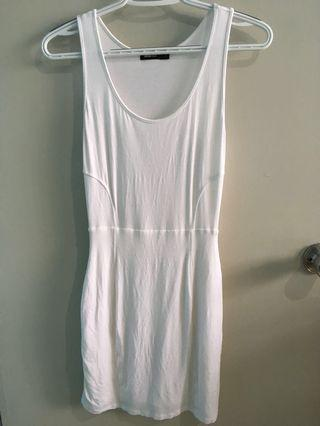 White Fitted Dress w/ Cover-up