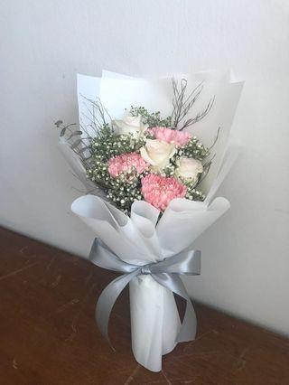 Mother's Day carnations and roses bouquet