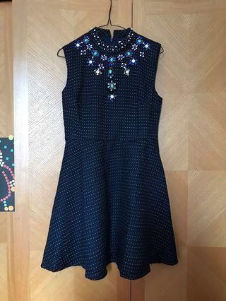 A line dress 連身裙 宴會裙 釘石