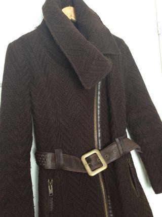 Mackage coat ladies size medium brown wool woven