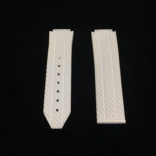 Authentic HUBLOT Big Bang White Structured Rubber Strap For Ladies - 41mm